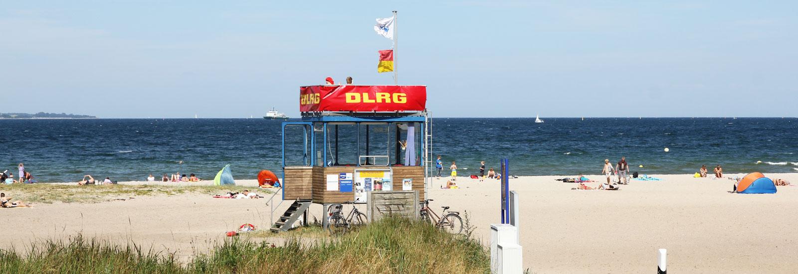 DRLG-Station am Strand